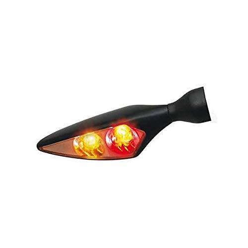 Rück-, Bremslicht, Blinker Einheit Micro Rhombus DF, schwarz, hinten links