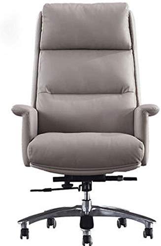 XUANFEI Silla de Oficina Silla de computadora, Mesa y Silla giratoria de Cuero, sillón reclinable de Altura Ajustable, con reposapiés Acolchado y reposapiés