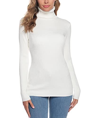 N/B Maglione a Collo Alto Donna Maglioni Dolcevita Pullover Maglia Elegante Sweater Jumper...