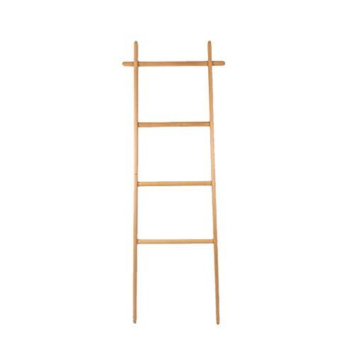 QYQYMJ Coat Rack Massief Hout Halve Ladder Hanger tegen de muur Badkamer Handdoek Rack Hook Up Geschikt voor ingangen, gangen, Woonkamers, Slaapkamer Kantoren 52 * 170CM