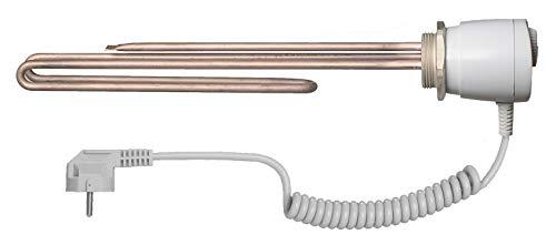 """ELIKO GRBT 6/4\"""" 3kW 3000W 230V Heizstab Heizpatrone Heizelement für Wasserspeicher Boiler Warmwasserspeicher Wasserheizung Heizungsspeicher mit Thermostat"""