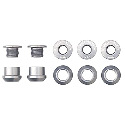 Wolf Tooth Components Set of 5 Chainring Bolts+Nuts for Single-Ring (1X) Drivetrains