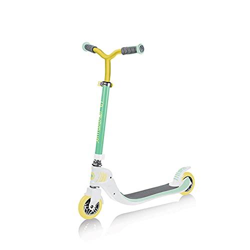 PTHZ Scooter de 2 Ruedas, Scooter Plegable con Mango Ajustable en Altura, Giro Delantero de 360 Grados, Adecuado para niños y Adolescentes Mayores de 6 años,Verde