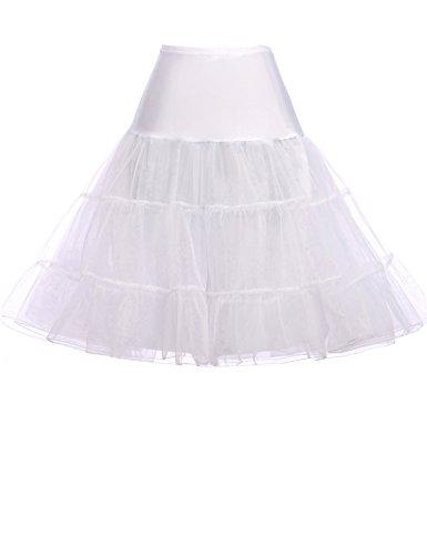 GRACE KARIN Petticoat Vintage 50er Jahre Unterrock Kurz Tüll Reifrock für brautkleid Rockabilly Kleid Übergröße CL8922-2