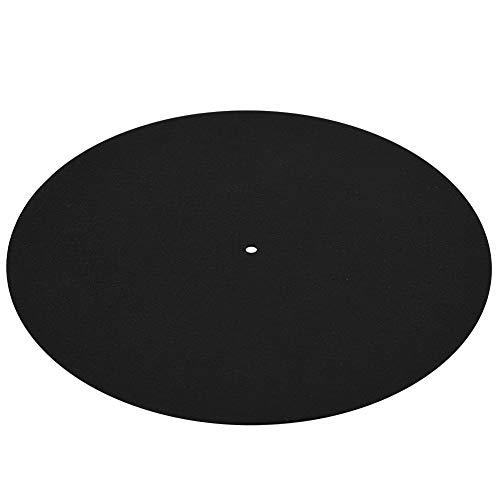 Vinyl Record Pad, antistatische platenspeler mat om oneffenheden te verminderen en de schijf schoon te houden in het zwart