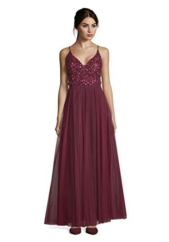 Vera Mont Damen 8065/4610 Partykleid, Rot (Shiny Bordeaux 6331), (Herstellergröße: 36)