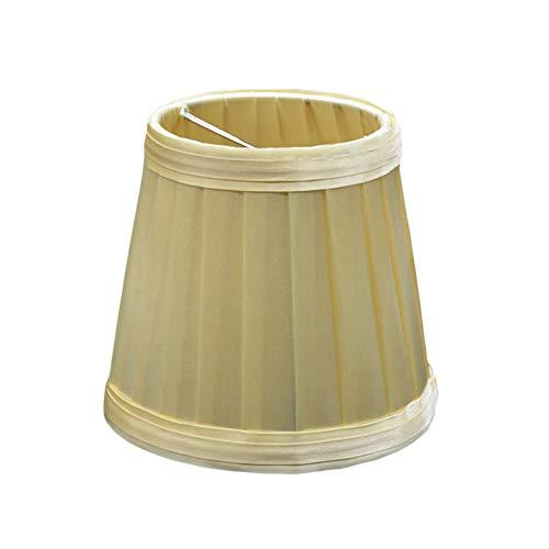Handwerk Stoff Lampenschirm Plissee Lampenabdeckung für Wandleuchte Pendelleuchte Kerze Kronleuchter Tischlampe (Gelb)