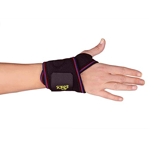 Soles Neoprene Wrist Bandage & Support Breathable Neoprene, Extreme Comfort One Size Fits All - Fits Both Wrists - Soft, Flexible, Comfortable Brace Reduces Pain and Prevents Injuries