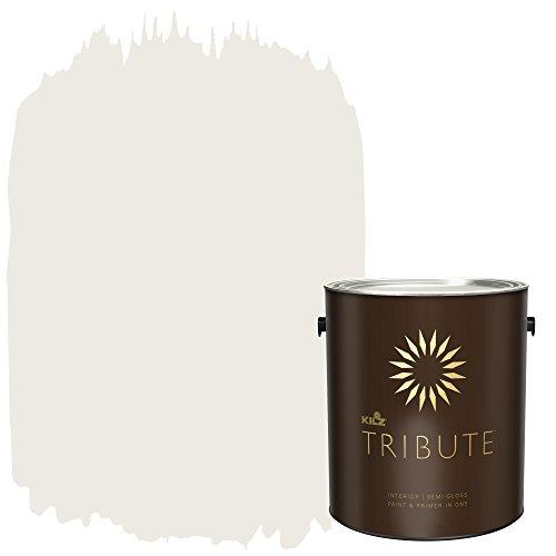KILZ TRIBUTE Interior Semi-Gloss Paint and Primer in One, 1 Gallon, White Modern (TB-09)