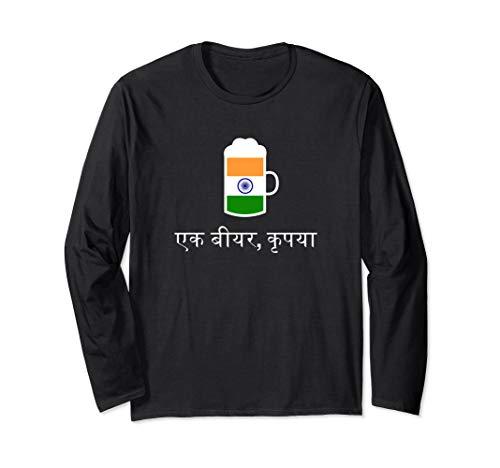 (Ein) Bier bitte in Hindi Indien Bier Langarmshirt