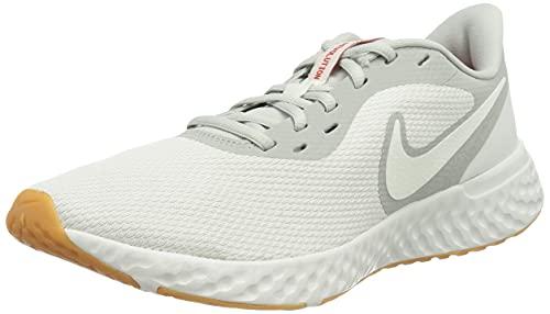 Nike Revolution 5, Zapatillas para Correr Hombre, Gris y Verde, 47 EU