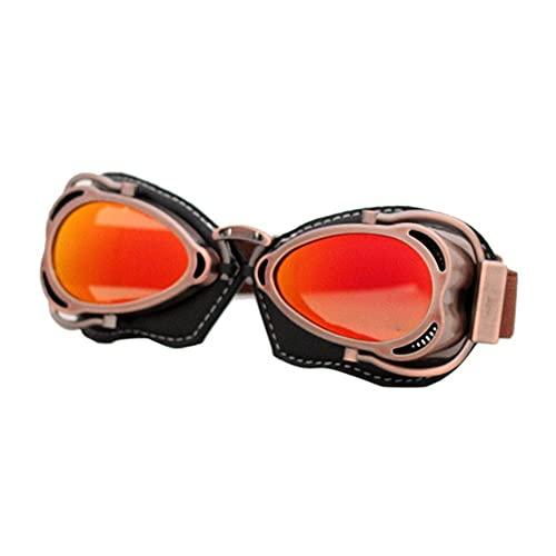 Ys-s Personalización de la Tienda Casco Steampunk Cobre Gafas rápido Vintage piloto Ciclista Gafas Gafas Protector Gafas Gafas Motocicletas Gafas (Color : Style 4 Goggles)
