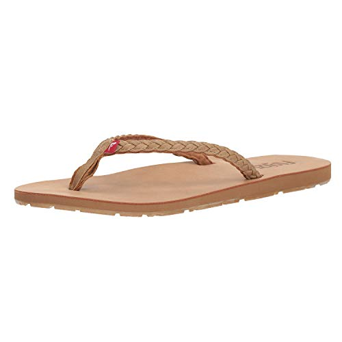 Flojos Women's Harper Flip Flops, Tan, 7