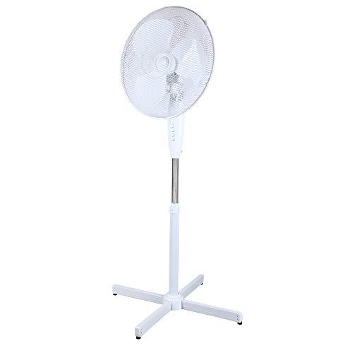 Standventilator weiß Ø 40cm Ventilator 125cm Stehventilator 230V oszillierend Lüfter höhenverstellbar Zimmerventilator