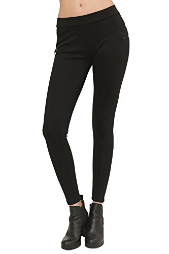trueprodigy Casual Damen Marken Leggings mit Stretch Leggins Cool Stylisch sexy sportlich Skinny Elegante Stretch Hose für Frauen,...
