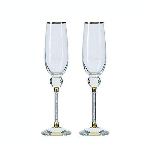 Tianhh High End geschenkdoos wijnglas, wijnglas inhoud 205Ml wit diamant kristal glas, hoge champagne glas, vaatwasmachinebestendig