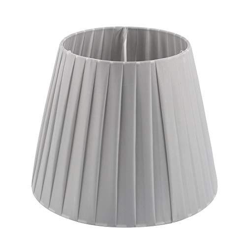 Pantalla de pared para lámpara de pie con tapa de luz, 6,3 x 9,4 x 7,5 pulgadas (Slip UNO Fitter), gris plateado