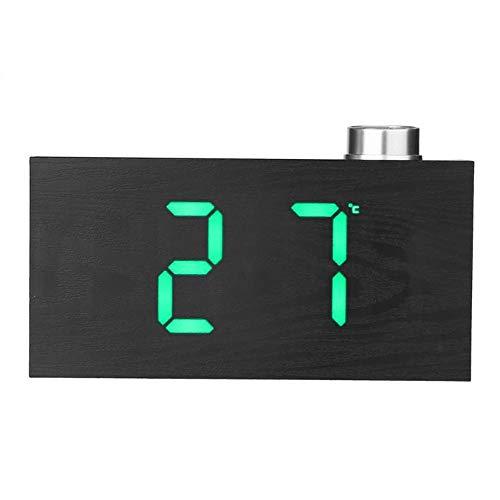 Led Knopf Digitaluhr Home Fashion Elektronischer Schlummerwecker Kreativer Thermometer Uhr Grün
