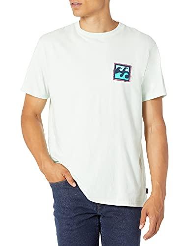 Billabong Men's Classic Short Sleeve Premium Logo Graphic T-Shirt, Crayon Wave Seaglass, Medium