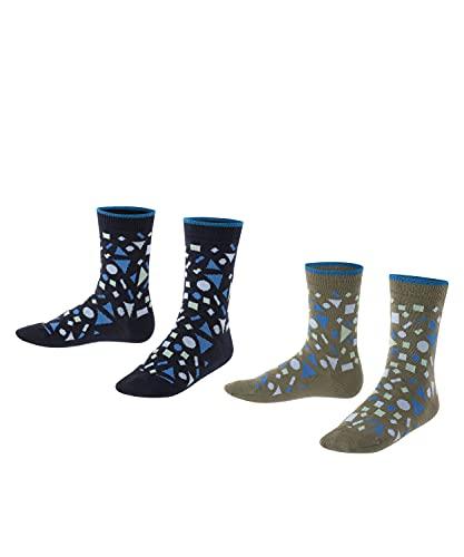 ESPRIT Unisex Kinder Pattern Mix 2-Pack K SO Socken, Mehrfarbig (Sortiment 50), 27-30 (2er Pack)