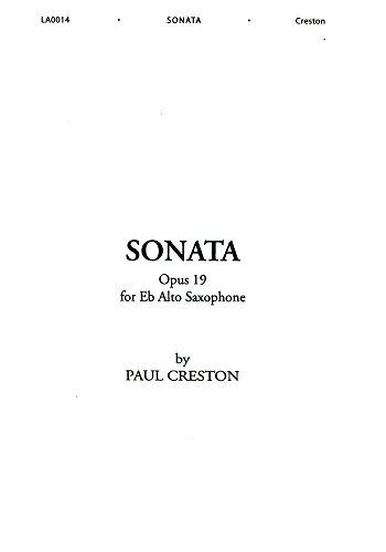 Sonata, op. 19, per sassofono contralto in mi bemolle alto saxophone-