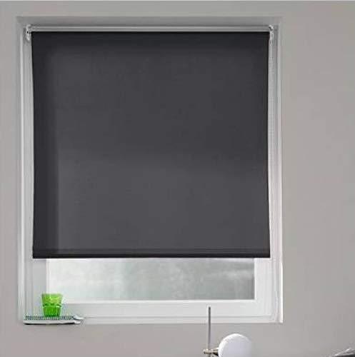 Madecostore rolgordijn, polyester, antraciet, L 94 x H 250 cm (stof = L 90 cm)