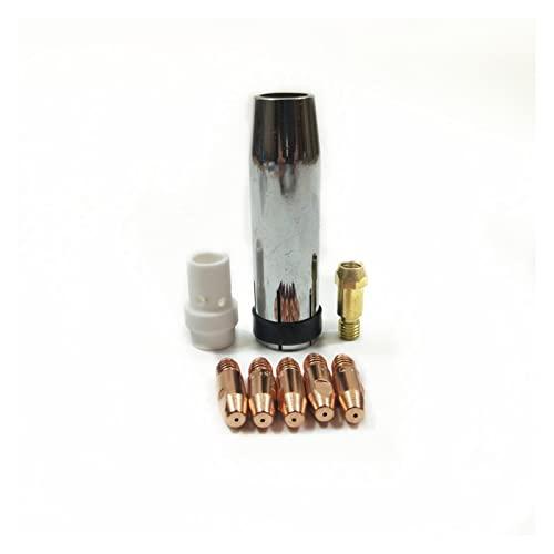 FLLOVE FANGLIANG 3 6kd Soldadura Torch Consumibles 8pcs 0.8mm 1.0mm 1.2mm Muñeco Titular de la Punta de la Boquilla de la Boquilla de la antorcha Ajuste for Mig mag Maquina de soldar