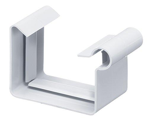 INEFA Dachrinnen-Verbindungsstück, kastenförmig Weiß NW 68 - Verbindungsstück, Verbinder für Dachrinne, Dachrinnenverbindung, Regenrinne, Kastenrinne, Zubehör