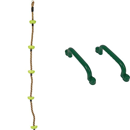 small foot Kletterseil Himmelsstürmer, wetterfestes Material, mit Sicherungshaken und Trittflächen, ab 3 Jahren & Haltegriffe aus robustem, wetterbeständigem Material, individuell zu befestigen