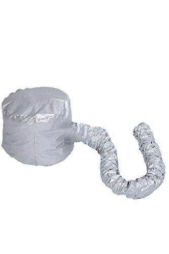 Preisvergleich Produktbild Tragbare weiche Frisur Bonnet Haube Hut Haare Trocknen Cap Fön Anlage für Salon-Friseur-Home Reisen Silber