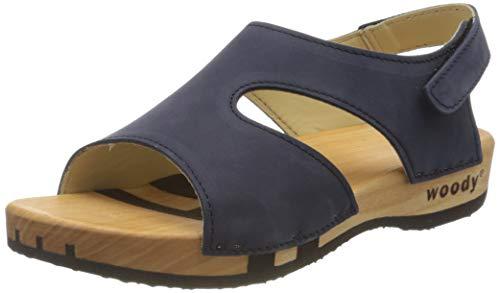 Woody Damen Stefanie Pantoletten, Blau (Abisso 032), 40 EU