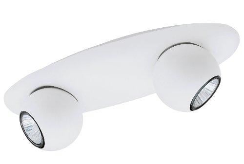 EGLO Deckenleuchte Stahl, weiß 91614
