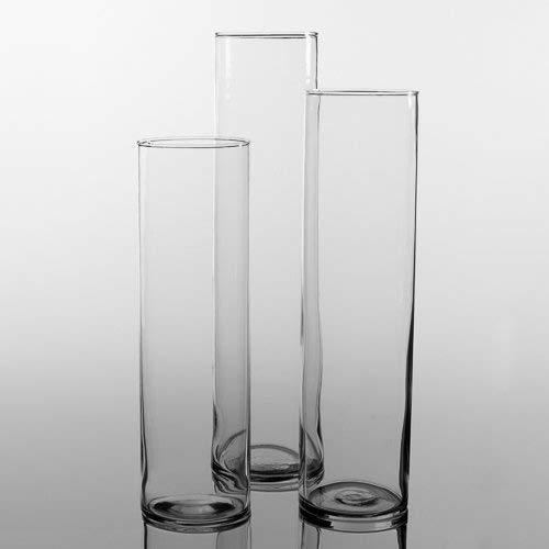 Eastland ® Hoch Vase, Zylinderförmig, 3-Er Set, 3 Verschiedene Größen