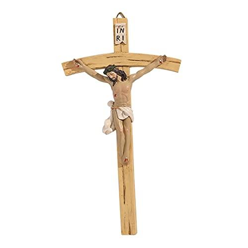 22 cm Vintage Jesus Christus Wandkreuz Kruzifix Handgemalte Religiöse Katholische Präsente Geschenkidee