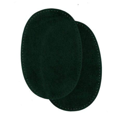 FILOUFACE 2 Verstärkungen für Ellenbogen/Knie, Farbe Tannengrün, Wildlederimitat, 9,20 x 13,50 cm, zum Aufbügeln