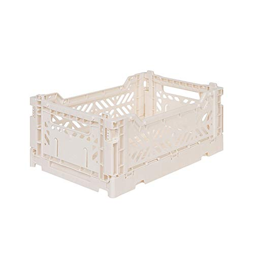 AY-KASA inklapbare opslag Bin Container Mand Tote, Vouwen Mand CRATE Container : Opslag, Keuken, Huisraad Utility Mand Tote Crate - Mini-BOX (COCONUT MILK)