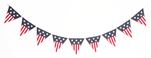 Seasons Treasure 6ft Handmade Patriotic Burlap Banners (Triangle)