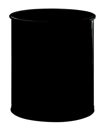 Rossignol Atlanta Corbeille à papier Confort Métal 15 litres Noir
