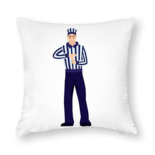 1 funda de almohada de algodón, diseño de árbitro de fútbol, para casa, oficina, hotel, sofá, algodón, Estilo33, 50,8 x 50,8 cm (20 x 20 pulgadas)
