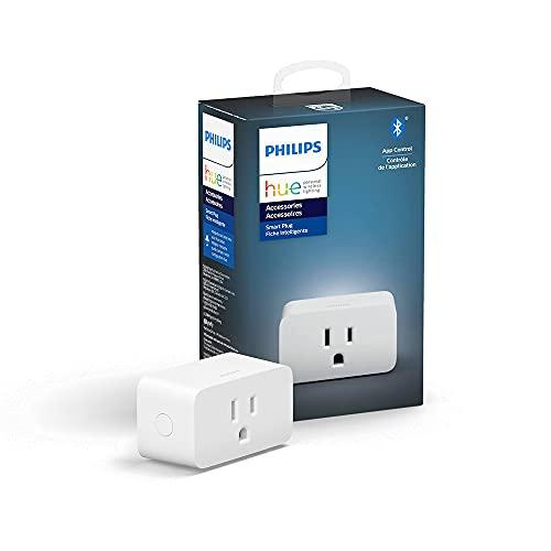 Philips Hue Smart Plug for Hue Smart Lights, Bluetooth & Hue Hub Compatible