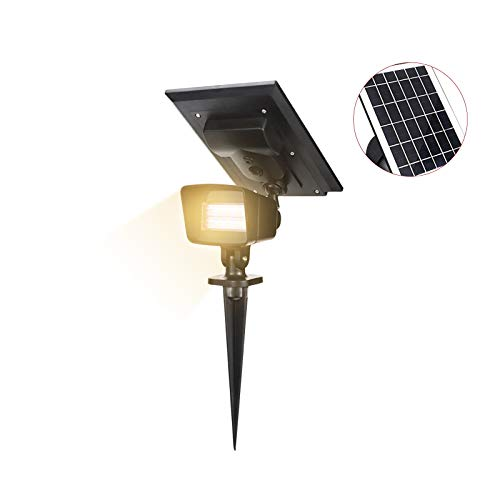 Solarleuchte Garten, 10 LED-Gartenleuchten Solar, 2-in-1 IP65 Wasserdicht Werstellbare Solarbetriebene Wandleuchten für Garten Auffahrt Veranda Gehweg Pool Patio (Warmweiß)