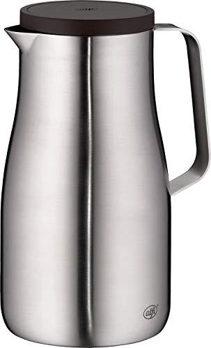 alfi Isolierkanne Sutdio TT, Edelstahl mattiert 1,5L, Edelstahleinsatz, spülmaschinenfest 1297.205.150, Thermoskanne hält 12 Stunden heiß, ideal als Kaffeekanne oder Teekanne, Kanne für 10 Tassen