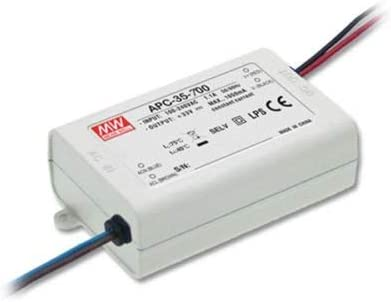 2 Lot Mean Well Power Supply APC-12-350, AC-DC, 9-36V 0.35A Output, The AP series comes in 8, 12, 16, 25 and 35 Watt models that drive constant currents between 250 and 1050mA.