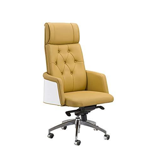 ZLQBHJ kontorsstol, Boss Stolar Kontorsstolar Home Office Arbetsstolar Leather Soft Executive Swivel Ergonomisk Office karmstol (Size : Microfiber Leather)
