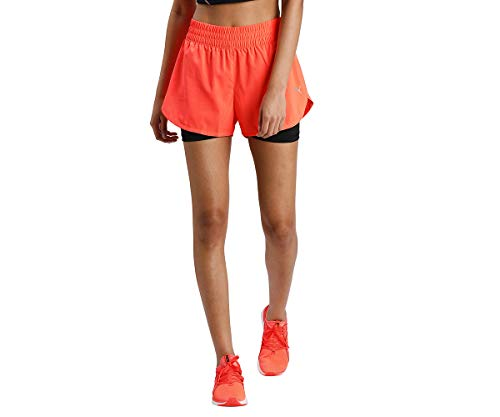Puma Run Favorite Woven 2IN1 3 - Camiseta de running (talla XS), color naranja