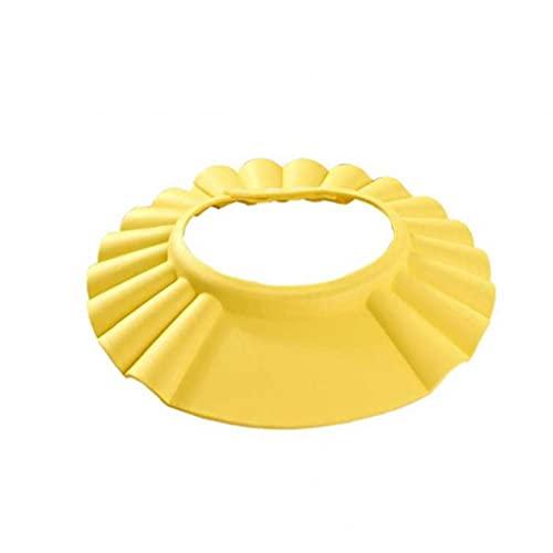 Tuimiyisou Fuentes del Baño De Los Niños del Bebé Gorros De Ducha Cap Champú Pelo De La Colada del Visera Sombreros del Bebé Amarillo