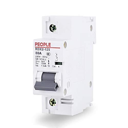 SUNER-EUR Interruptor de Aire monofásico 1P de Alta ruptura RDX2-125 pequeño disyuntor...