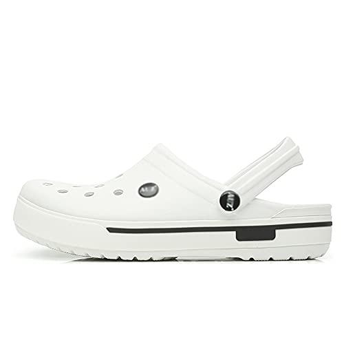 SGCDKSP Sandalias de Playa Skin's y Zapatillas para Mujeres, Zapatos de Agujero, Zapatillas Baotou,Blanco,41 Yards