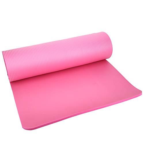 Shipenophy Estera de Yoga insípida del cojín de Yoga del Entrenamiento físico para el hogar(Pink 183 * 61 * 1)