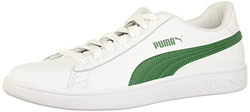 Puma Puma Smash v2 L Zapatillas de deporte para Unisex adulto, color Puma White-Amazon Green, 28